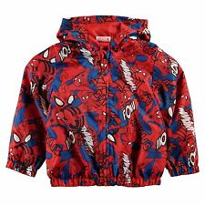 NEW MARVEL SPIDERMAN CHARACTER RAIN MAC JACKET SIZE 2-3 Yrs RED/BLUE KIDS INFANT