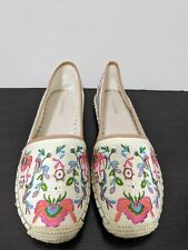 Gianni Bini Pema Floral Espadrilles Embroidery Women's Size 10M $89