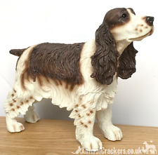 Brown & White Cocker Spaniel ornament sculpture figurine Leonardo, gift boxed