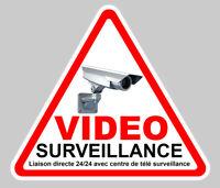 VIDEO SURVEILLANCE PROPRIETE ALARME CAMERA SECURITE 9cm STICKER VA048
