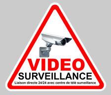 VIDEO SURVEILLANCE PROPRIETE ALARME CAMERA 24h/24h SECURITE 12cm STICKER VA048