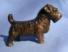 "1930 bronze Sealyham Cesky Terrier 4"" dog"