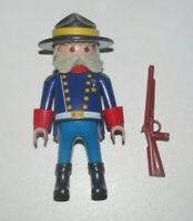 Playmobil Figurine Personnage Général Nordiste US + Fusil Canon Double NEW
