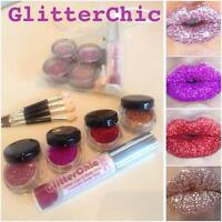 Glitter Lips set 4 x HOT Colours!! Party,Valentine,Hen,Lipstick by GlitterChic