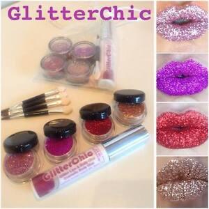 Glitter Lips set 4 x HOT Colours!! Party,Valentine,Hen,Lipstick by GlitterChic