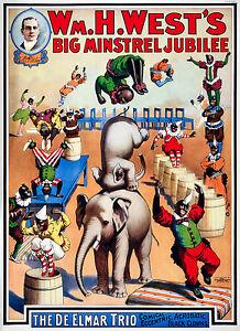 Minstrel Circus - Old Vintage Antique, Magic - Circus, HD Print or Canvas