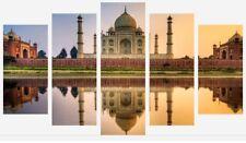TAJ MAHAL INDIA WORLD WONDER 5 SPLIT PANEL WALL ART CANVAS PICTURE PRINTS
