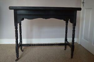 Victorian ebonised card table