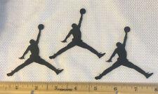 3 Jordan Jumpman Black Iron On Logos 3 Inches