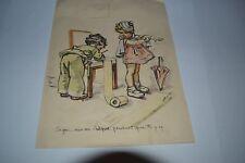 GRAVURE GERMAINE BOURET SIGNE DE 1937 LONG. 24 CM x 18 CM