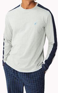 New Mens Nautica Sleepwear Colorblock J-Class Long Sleeve T Shirt Tee S