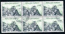 San MARINO 1958 586 nel blocco 6er timbrato € 420 (s1924