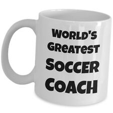 Worlds Greatest Soccer Coach Coffee Mug Team Sports Trainer Head Mentor Cup Gift