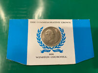 UNC 1874 1965 GREAT BRITAIN SIR WINSTON CHURCHILL ONE COMMEMORATIVE CROWN (LOT)