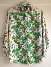 Vintage Versace Jeans Couture 90's Berry Fruit Print Blouse Top Shirt Size XS