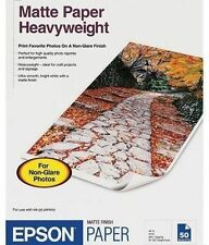 Epson Premium Matte Presentation Paper, 45 lbs, 11-3/4 x 16-1/2, 50 Sheets/Pack