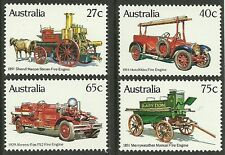AUSTRALIA 1983 FIRE ENGINES Set of 4v MNH