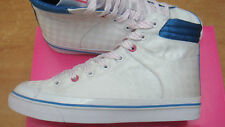 brand new womens White checkered Pastry Tart Mid trainers size UK 6.5