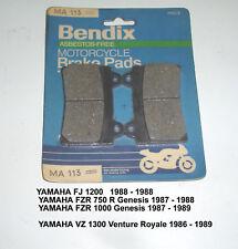YAMAHA FJ1200 FJ 1200 VZ1300 BENDIX DISC BRAKE PADS MA113 NEW