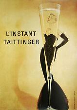 L'Instant Taittinger Grace Kelly Vintage Champagne Ad c. 1989 Print Poster 24X36