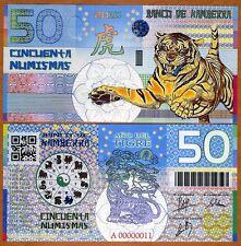 Kamberra, Kingdom, 50 Numismas, China Lunar Year 2010, UNC > Tiger