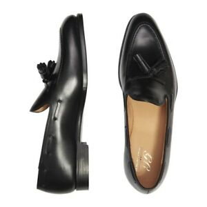 GEORGE CLEVERLEY  BLACK CALF LEATHER ADRIAN TASSEL LOAFER (with Trees)