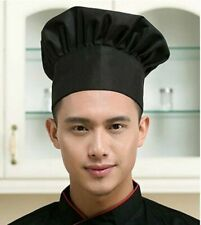 Adjustable Chef Hat Black Elastic Baker Kitchen Cooking Catering Cap Food Gift