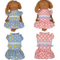 Pet Puppy Small Dog Cat Pet Clothes Dress Vest T Shirt Summer Apparel Clothes