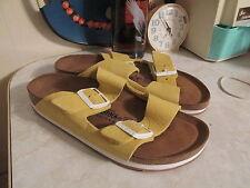 Birkenstock Arizona Yellow Soft Footbed Sandals  Nubuck / leather EU39 U.S 8