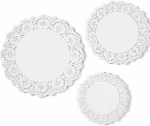 24 Paper Party Doilies Catering Wedding Coasters Round Present 4 Assorted Size