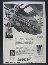1930 CNR Railways Montreal Shop Locomotive photo SKF Bearings vintage print Ad