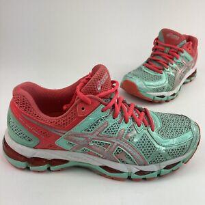 Asics Gel Kayano 21 Women Sz 8 Mint Green Running Jogging Walking Sneaker Shoes