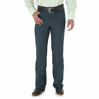 Mens New Wrangler Wrancher® Dress Western Cowboy Fits Over Boots Jean Blue