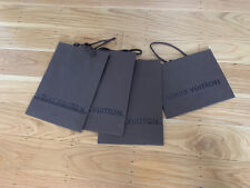 Four (4) Authentic Louis Vuitton Shopping Gift Paper Bag, Brown