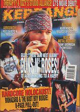 Axl Rose of Guns N' Roses on Kerrang Cover 1994     Prong   Biohazard    Skin