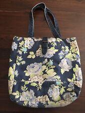 Aeropostale Woman's Blue Floral Shoulder Bag - Tote - Bucket Purse - Open Top