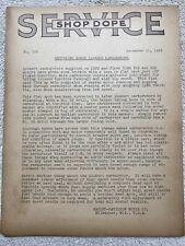 "Early 1933 Harley-Davidson "" Shop Dope "" Service Bulletin - No. 106 Linkert Carb"