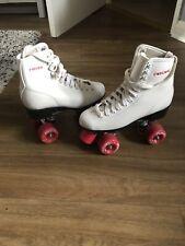 White Leather Roller Skates
