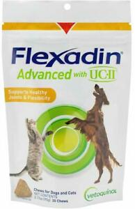 Vetoquinol Flexadin Advanced Soft Chews with UC-II - 30 Soft Chews - for Joints