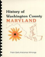MD Washington County Scharf 1882 History of Western Maryland New RP Biographies