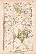 1933 LONDON MAP-NEW MALDEN,WORCESTER PARK,MALDEN