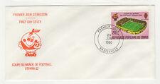 République du Congo 1 timbre sur lettre FDC 1980 tampon Brazzaville /BCag13