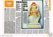 Coupure de presse Clipping 1985 (2 pages) Marianne Catherine Deneuve