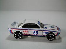 Hotwheels 1973 BMW Castrol Race Car #68 White 1/64 Scale JC56