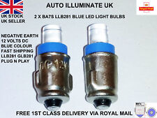2X BA7S 281 BLUE LED LUCAS TYPE  CAR DASHBOARD LIGHT BULBS BRIGHT LAMPS 12V DC