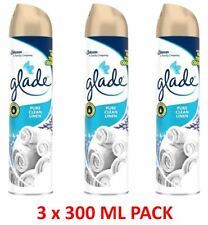 Glade 3 Pack x 300ml Air Freshener Spray Aerosol - Pure Clean Linen