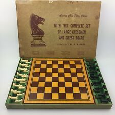 WM F Drueke Chess Set With Genuine Hardwood Board Game Vintage