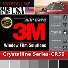 "3M Crystalline 50% VLT Automotive Car Window Tint Film Roll Size 30"" x 240"" CR50"