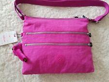 Kipling Nylon Alvar Crossbody Messenger Shoulder Bag Pink Orchid Monkey NWT