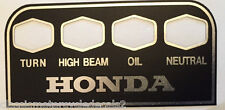 HONDA CB500F CB500K CB550 CB750K K3 K4 K5 CB750K2 - K6 WARNING CONSOLE DECAL